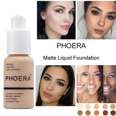Liquid foundation makeup 101 PHOERA Full Coverage Liquid Foundation
