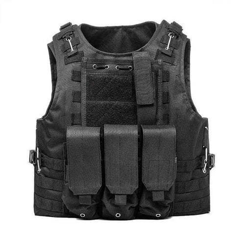 Image of Military Modular Tactical Vest Black Military Modular Tactical Vest