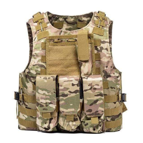 Image of Military Modular Tactical Vest CP Camo Military Modular Tactical Vest