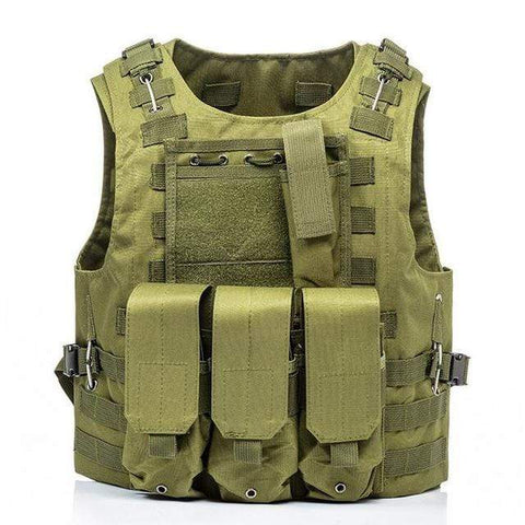 Image of Military Modular Tactical Vest Green Military Modular Tactical Vest