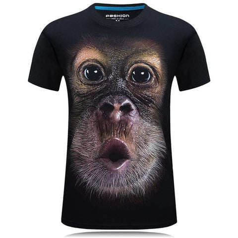 Image of Monkey T-shirt 1 / S Funny Monkey T-shirt