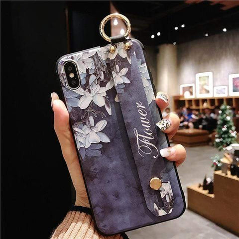 Image of Mosaic vintage iphone case IK21-01WDYuLHBlue / For iphone 6 6s Vintage iPhone Cases With Strap