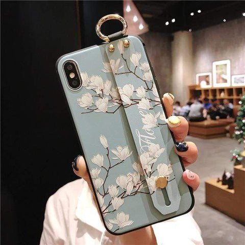 Image of Mosaic vintage iphone case IK21-01WDYuLHQing / For iphone 6 6s Vintage iPhone Cases With Strap