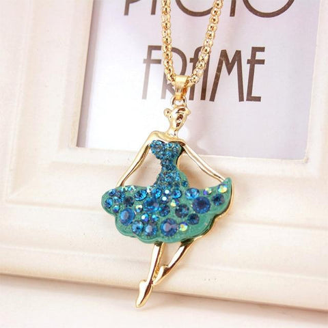 Image of necklace giveaway Blue Ballet Ballerina Dance Necklace Offer