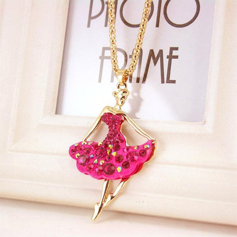 Image of necklace giveaway Peach Ballet Ballerina Dance Necklace Offer