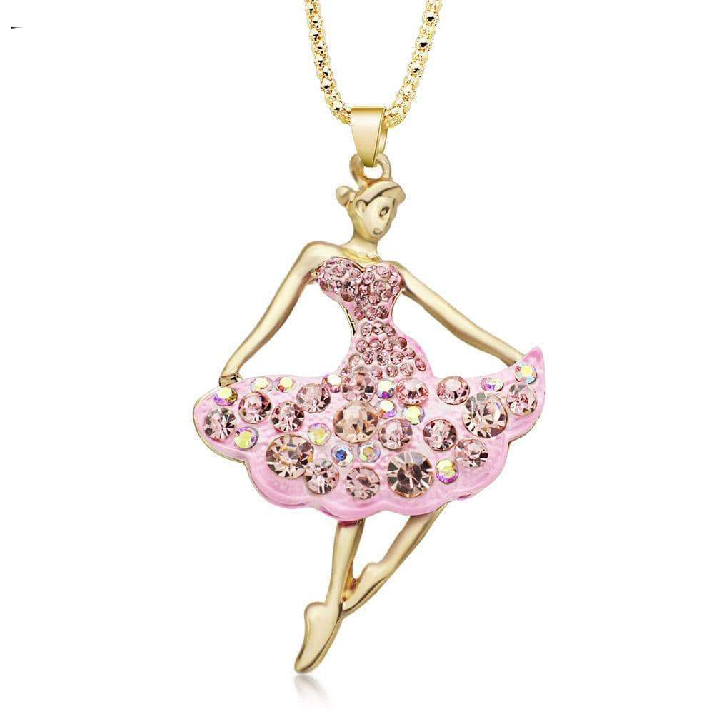 necklace giveaway Pink Ballet Ballerina Dance Necklace Offer