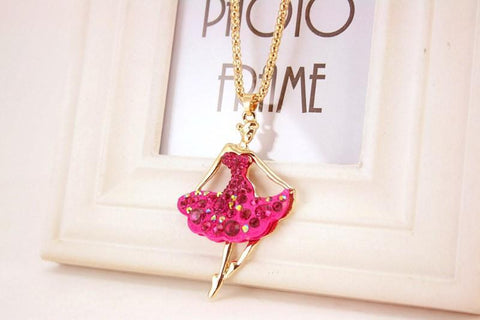 Image of necklace giveaway Pink Ballet Ballerina Dance Necklace Offer