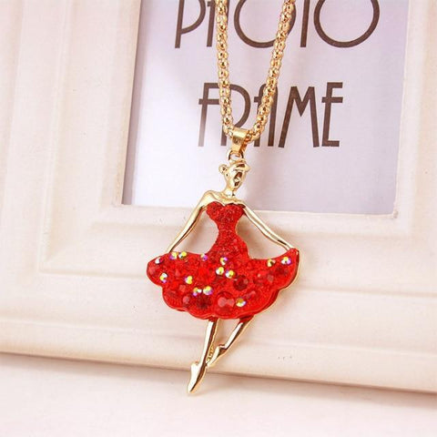 Image of necklace giveaway Red Ballet Ballerina Dance Necklace Offer