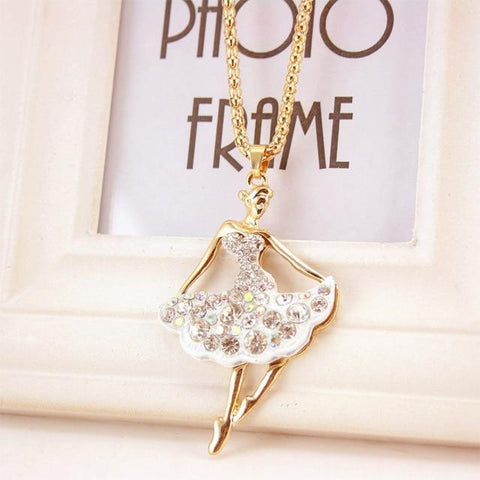 Image of necklace giveaway White Ballet Ballerina Dance Necklace Offer