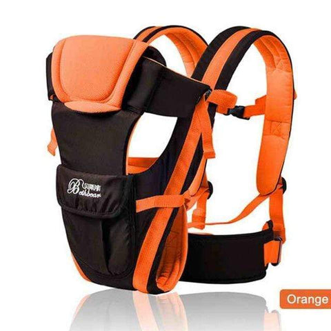 Image of Orange 0-30 Months Breathable  4 in 1  Baby Carrier