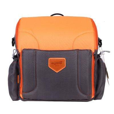 Image of orange 2 IN 1 Portable baby Booster Seats And Diaper Bag
