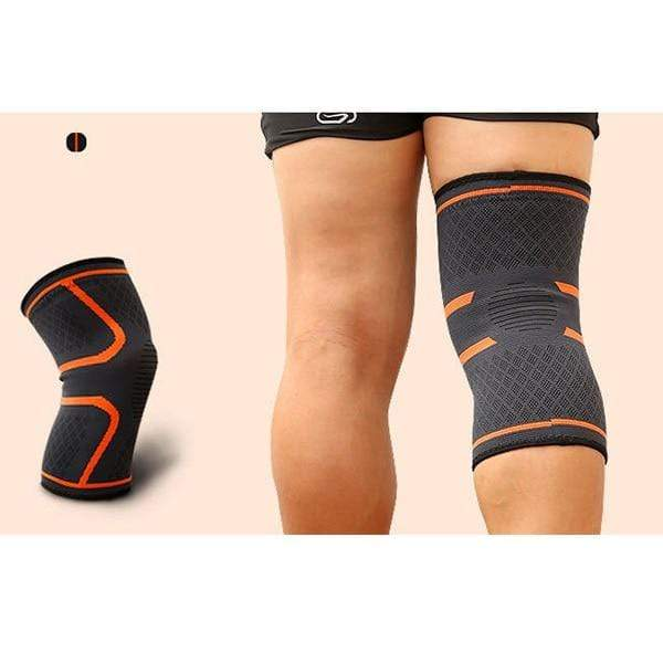 Orange / XL Compression Knee Support Sleeve Brace