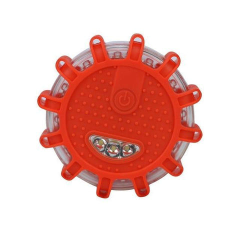 Image of outdoors red 12* LED Emergency Safety Rotating Warning Light