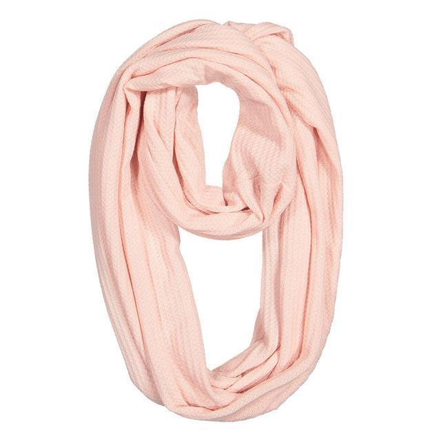 Pink Convertible Scarf with Pocket