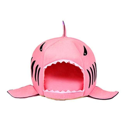 Pink / S Shark Pet Bed