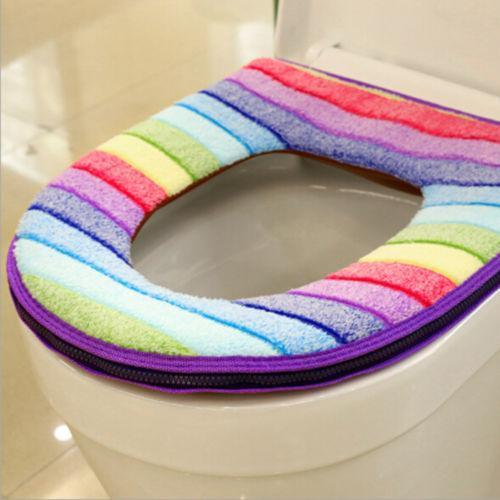 Rainbow Seat Cover Plum Rainbow Toilet Seat Cover