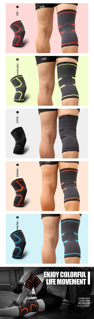 Red / M Compression Knee Support Sleeve Brace