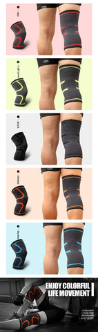 Image of Red / M Compression Knee Support Sleeve Brace