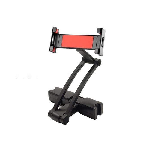 Red Tablet Holder Car Headrest Mount