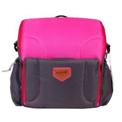 Image of rose red 2 IN 1 Portable baby Booster Seats And Diaper Bag