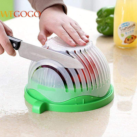 Image of Salad Maker Blue 60 Seconds Salad Maker