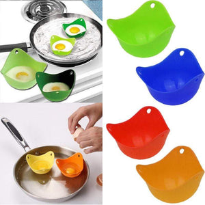 silicone egg poacher 1 piece green Silicone Egg Poacher