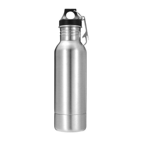 Silver Beer Cooler Bottle