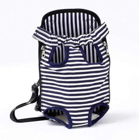 Image of Small Dog Carrier Backpack white stripe / S Small Dog Carrier Backpack