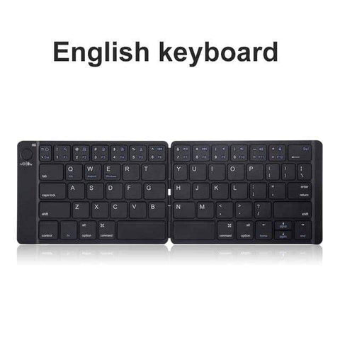 Image of smartphone bluetooth keyboard Portable Folding Bluetooth Smartphone Keyboard