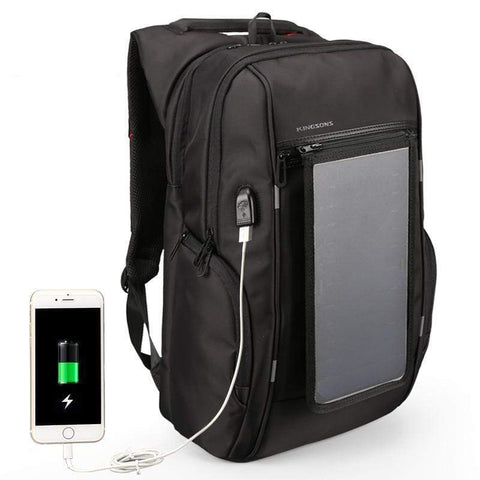 Image of Solar Panel Backpack Laptop Bag