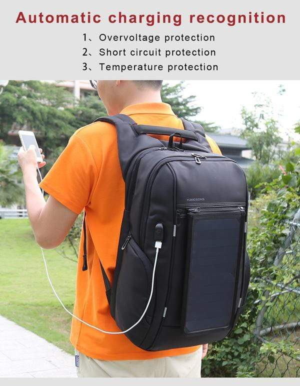 Solar Panel Backpack Laptop Bag