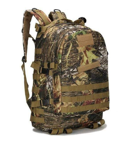Image of Tactical Backpack Leaf  Camouflage / 50 - 70L Military Tactical Backpack