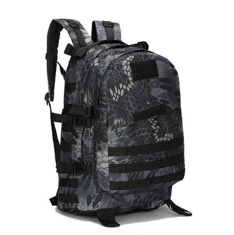 Image of Tactical Backpack Python Black / 50 - 70L Military Tactical Backpack