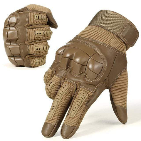 Tactical Gloves Brown / L Tactical Hard Knuckle Touch Screen Survival Gloves
