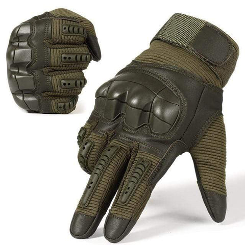Tactical Gloves Green / L Tactical Hard Knuckle Touch Screen Survival Gloves