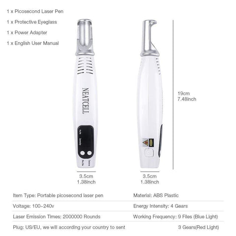 Image of Tattoo Freckle Removal Pen Machine us box Tattoo Freckle Removal Pen Machine
