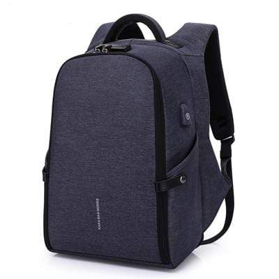 Image of Travel Bag Anti-theft Backpack Blue Best Anti Theft Charging Backpack