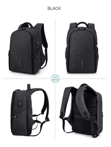 Image of Travel Bag Anti-theft Backpack gray Best Anti Theft Charging Backpack