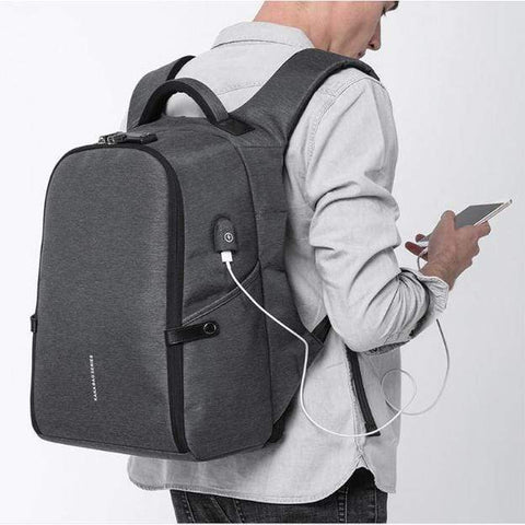 Travel Bag Anti-theft Backpack gray Best Anti Theft Charging Backpack