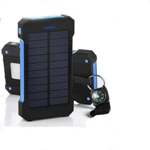 USB Dual Solar Charger United States / Dark Blue Solar Powered Phone Charger Dual USB