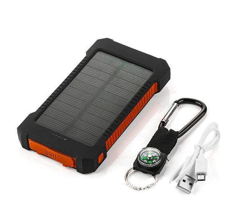 Image of USB Dual Solar Charger United States / Red Solar Powered Phone Charger Dual USB