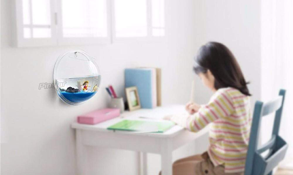 Wall Mounted Fish Bowl Tank Transparent / 15cm Wall Mounted Fish Bowl Tank