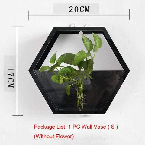 Image of Wall Plant Fish Flower Pot Vase Black S Wall Fish Tank Modern Hanging Plant Vase