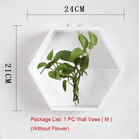 Image of Wall Plant Fish Flower Pot Vase White M Wall Fish Tank Modern Hanging Plant Vase