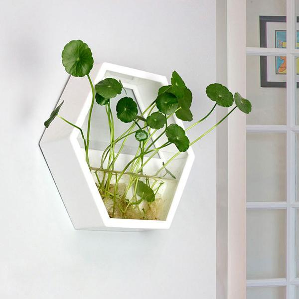 Wall Plant Fish Flower Pot Vase White S Wall Fish Tank Modern Hanging Plant Vase