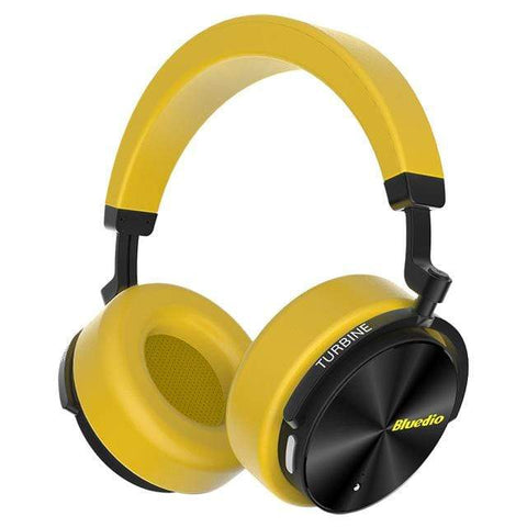Image of Yellow / United States Bluetooth Wireless Noise Cancelling Headphones with microphone