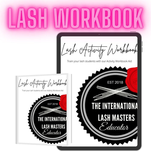 Lash Training Activity Workbook Aid - Lash'd Eyelashes