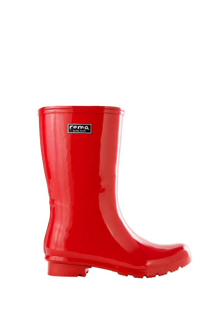 Emma Mid Red Women's Rain Boots