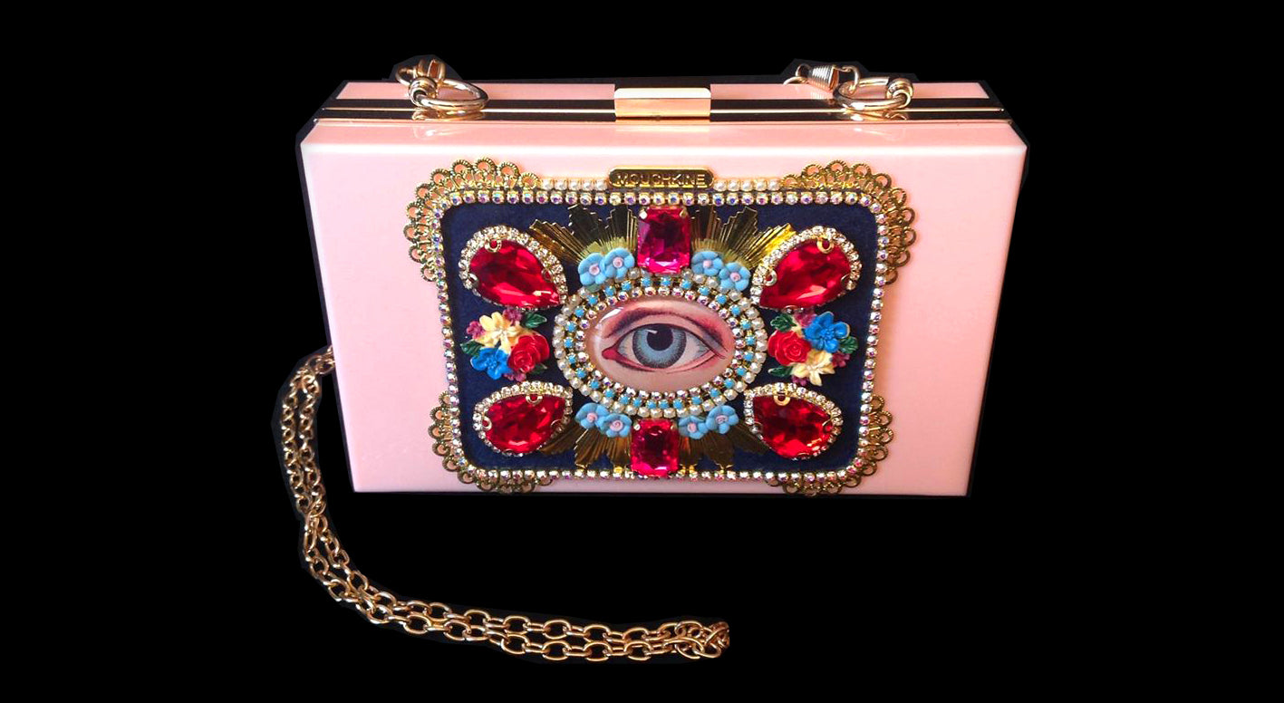 mouchkine jewelry handmade in france haute couture Clutch bag