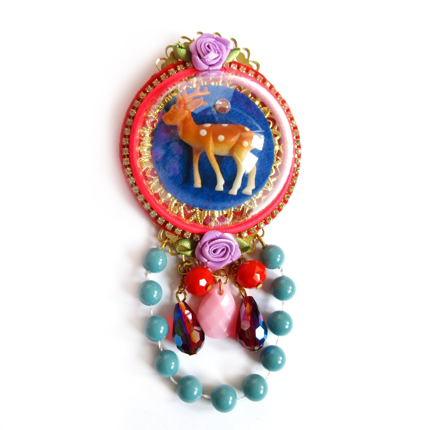mouchkine jewelry handmade chic bambi brooch, a haute couture jewel made in france